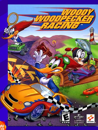 Poster Woody Woodpecker Racing